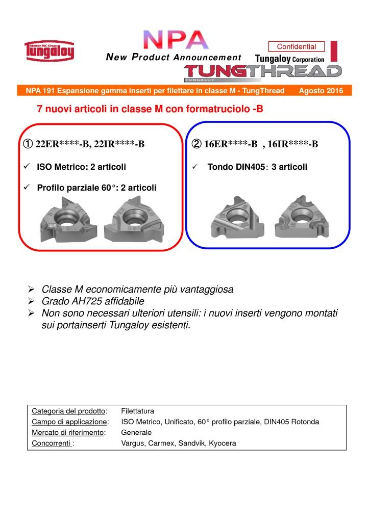 thumbnail of NPA 191T Espansione gamma inserti per filettatura – TungThread